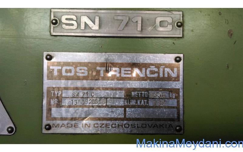 TRENS TOS SN 71X3000MM 2002 MODEL TORNA STOKTAN TESLIM