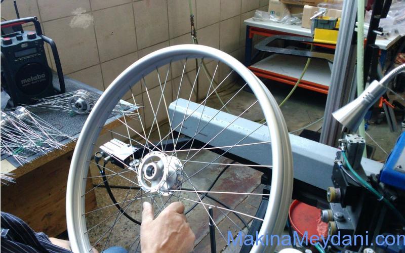 Bisiklet ve Engelli Araba Jant Montaj Makinesi Komple